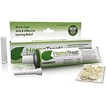 HemoTreat  Hämorrhoiden Behandlung Creme - HemoTreat 1 Tube mit internem Applikator - Schnelle Sicher Effektive Linderung der Hämorrhoidale Symptome , Salbe für interne und externe Hämorrhoiden