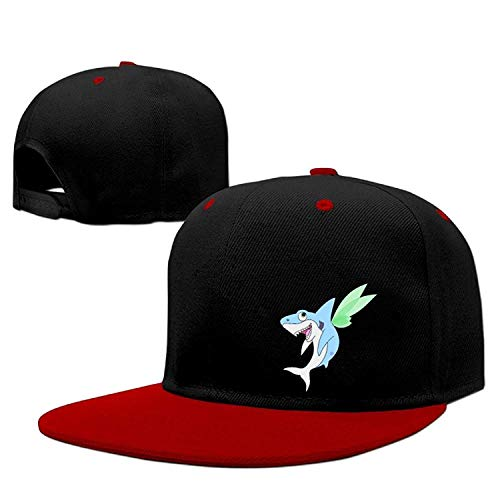 Preisvergleich Produktbild Pixie Shark Solid Flat Bill Snapback Baseball Cap Hip Hop Unisex Custom Hat.
