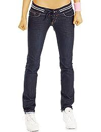 Bestyledberlin Damen Jeans, Regular Fit Jeans Stretch Bund, Hüftjeans j52k