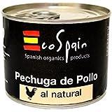 Pechuga de pollo sin sal en lata 100 gr. Listo para consumir. Alimentación Fitness. 29 gr. de proteína natural por lata