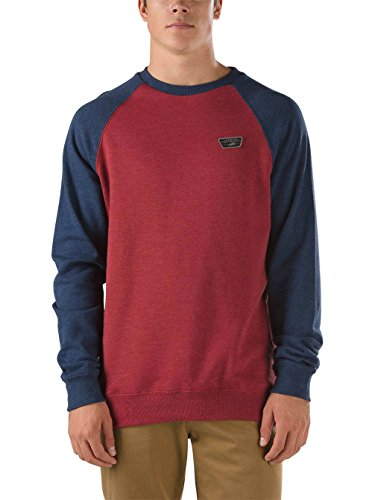 Vans Herren Sportpullover M Rutland red dahlia heather/dress