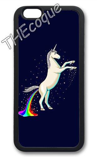 Coque silicone BUMPER souple IPHONE 6/6s + PLUS - Licorne unicorn Cheval mignon CASE tpu DESIGN + Film de protection INCLUS 2