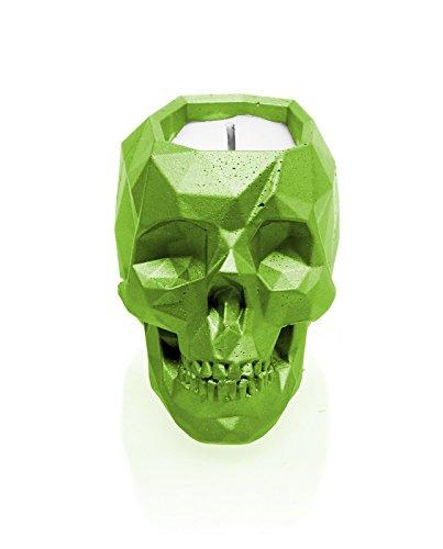 candellana Kerzen Beton candle-skull Lime, Duft: Warm Feder (Düfte Garten Soja-kerze)