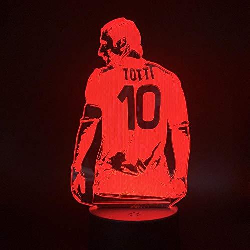 Futbolista Ver Figura Luz de Noche Led, Para Decoración de Habitación de Oficina Regalo Para Boyfriend Boys Lámpara de Mesa