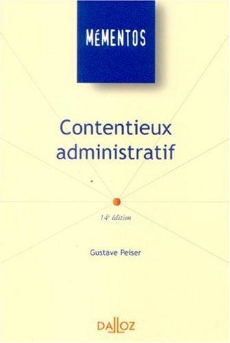 Contentieux administratif : Edition 2006