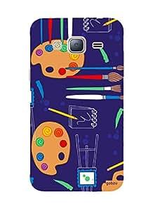 Gobzu Printed Hard Case Back Cover for Samsung J3 2016 - Design_55