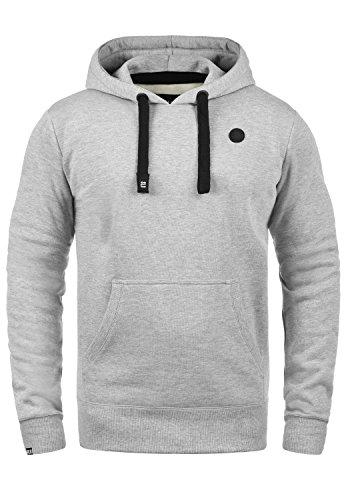 !Solid Beno Herren Kapuzenpullover Hoodie Pullover Mit Kapuze Und Fleece-Innenseite, Größe:L, Farbe:Light Grey Melange (8242)