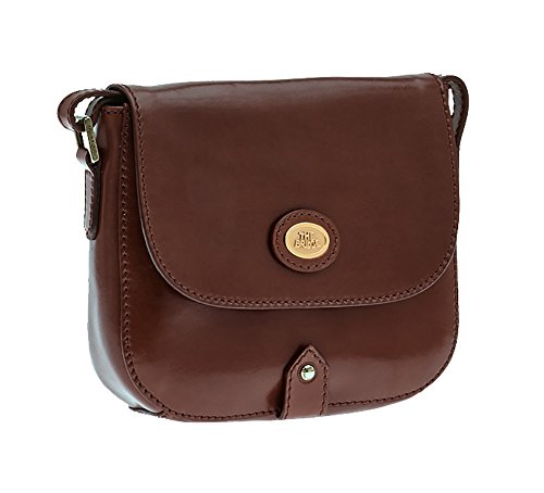 The Bridge Basic borsa a tracolla pelle 20 cm Braun