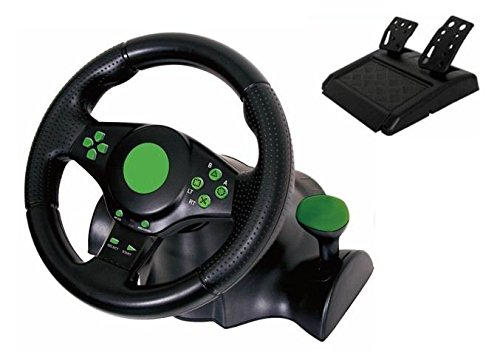 Kabalo Gaming Vibration Racing Steering Wheel (23cm) and Pedals for XBOX ONE PS3 PC USB [Ruota di gioco vibrazione corsa dello sterzo (23 centimetri) e Pedali per XBOX ONE PS3 PS2 PC USB]
