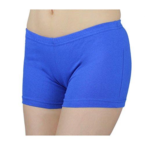 56a03e12428b Damen Shorts Hotpants Kurze Hose Sport Shorts Baumwolle Sommershorts  Fitness Shorts Bunte, Farbe  Kornblumenblau