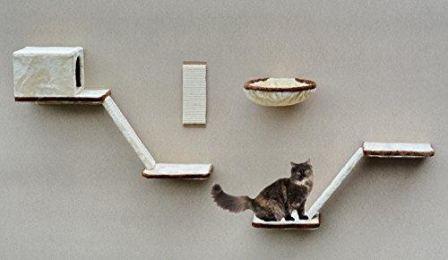 *Katzen-Kletterwand mit 8 teiliger Treppe*