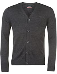 Pierre Cardin Cardigan Tricot Fin Pull Manteau Hommes