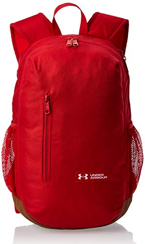 Under Armour UA Roland Backpack, Zaino Unisex Adulto, Rosso (Red/Sienna Brown/White), Taglia Unica