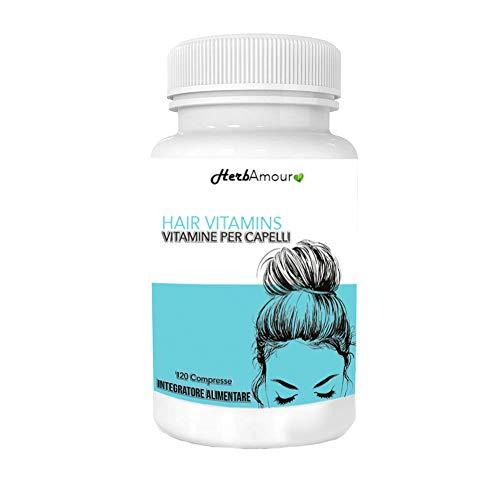HerbAmour Hair Vitamins I Integratore Alimentare Per Capelli Donna I Anticaduta, Rinforzante, Per Bellezza E Crescita I Formulazione Innovativa Con Biotina I 120 Compresse Ad Alto Dosaggio
