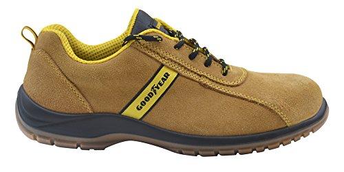 Goodyear G138/3053C–Chaussure en cuir croûte) couleur Camel, marron, G138/3053C