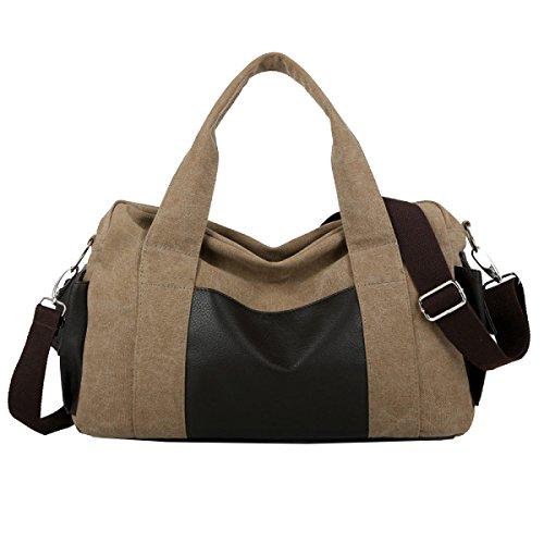 Yy.f Leinwand Tasche Mode Lässige Handtasche Schulter Messenger Bag Computer Tasche Reisen Wandern Camping Tasche. Mehrfarbig Khaki
