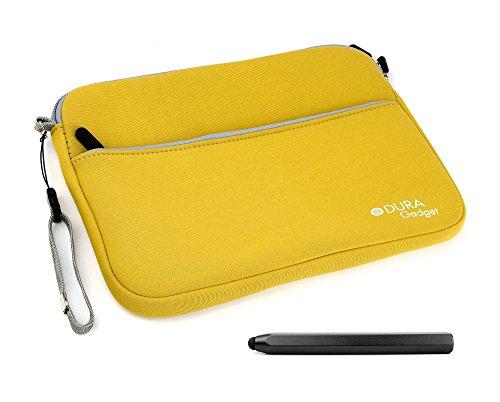 2 in 1 Paket: gelbe Schutz-Tasche und schwarzer Touchscreen-Eingabestift für Vtech Storio Max 7 Zoll Kinder-Tablets