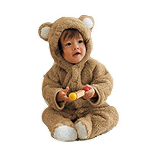Arrowhunt Baby Unisex Winter Overalls mit Bärenohren Kapuzen Gr.  Für ca. 80cm/ 6-9 Monate
