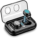 Xmate Gusto Bluetooth Headphones 5.0 with CVC6.0 Noise Reduction True Wireless Earphones TWS, Smart Touch Control Earbuds with Built-in Mic for All Smartphones