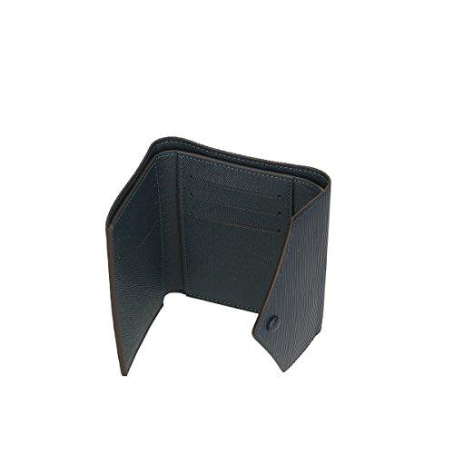 Chicca Borse Portafogli in pelle 12x9x3 100% Genuine Leather Blue