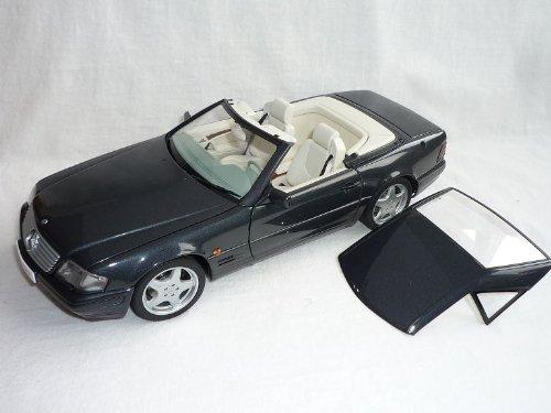 AUTOart Mercedes-Benz Sl600 Sl-klasse R129 Cabrio 1989-2001 Grau Schwarz Hard Top 1/18 Auto Art Modellauto Modell Auto Schwarz Hard Top