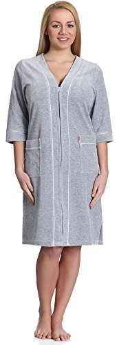 Merry Style Robe de Chambre Femme MS974 (Gris, M)