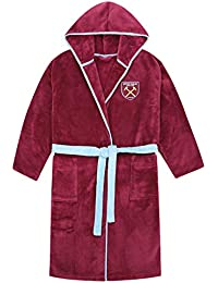 West Ham United FC Official Gift Mens Hooded Fleece Dressing Gown Robe  Claret da94c1078