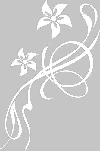 GRAZDesign 650194 Klodeckel-Aufkleber Blumen Blüten Ornamente | WC Aufkleber | lustiger Toiletten-Deckel