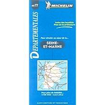 Carte routière : Seine-et-Marne, 4077, 1/150000