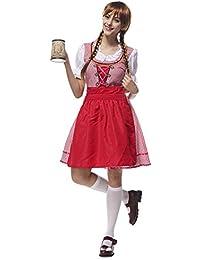 Molie Vestidos estilo escocés falda Plaid Oktoberfest bávaro disfraces Halloween Cosplay de las mujeres