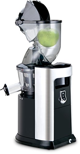 Kalorik Whole-Fruit Slow-Juicer/Entsafter für ganze Früchte mit langlebigen Induktionsmotor | 40 U/min | kraftvolle 250 Watt | BPA-Frei, Schwarz/Silber