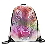 Tiger Mouse Ethnic Knit Backpack Shopping Sack Bags