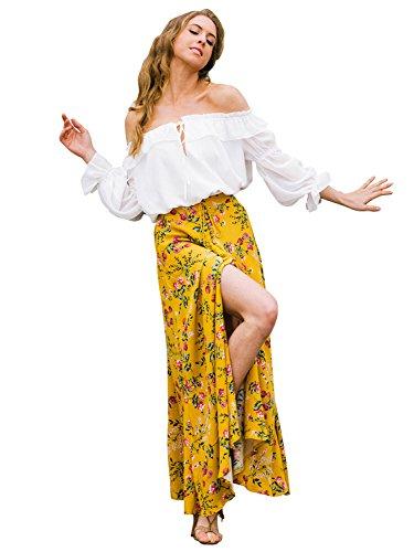 simplee-apparel-damen-lang-blumen-rocke-elegant-boho-chiffon-floral-asymmetrisch-slits-hoher-rocke-m
