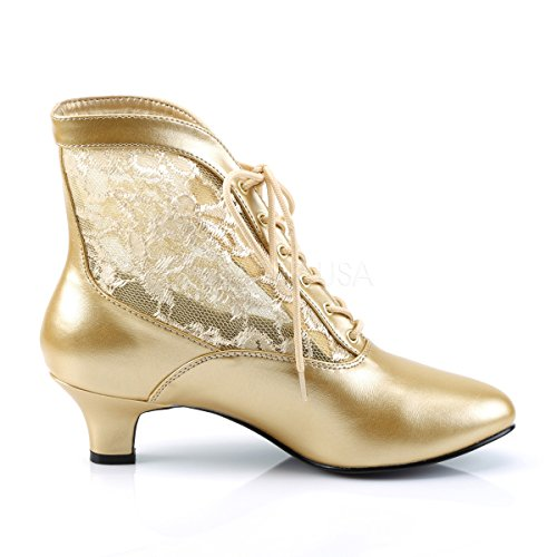Scarpe Funtasma Per Grand Dames: Scarpe Costume Lady-05 Dorate Opache