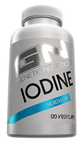 GN Laboratories Iodine Health Line essentielles Spurenelement Jod Mineralien Stoffwechsel Bodybuilding 120 Kapseln - Hypophyse Schilddrüse