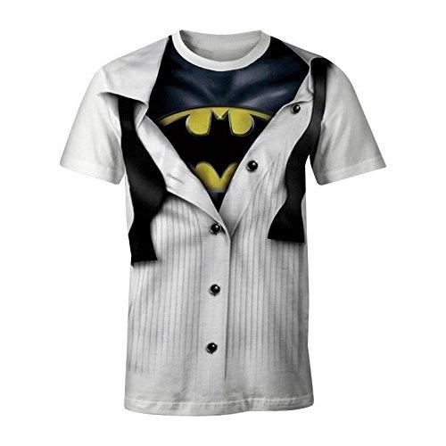 Catwoman Kostüm Shirt - Batman Blouse T-Shirt weiß L