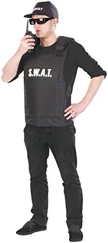 infactory Overall-Kostüm: Faschings-Kostüm S.W.A.T, 3-teilig, Einheitsgröße (Männer-Kostüm für Fasching)