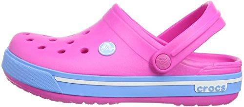 Crocs Cband2.5ClogK, Unisex-Kinder Clogs, Pink (Neon Magenta/Bluebell 6FG), 33/34 EU -
