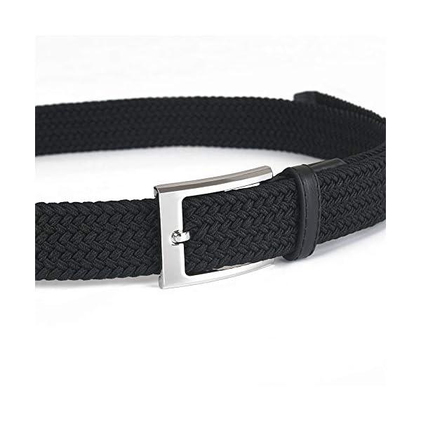 flintronic ® Cintura Uomo in Pelle, Cinture con Fibbia ad Ardiglione Elegante per Lavoro Casuale Jeans, con Portachiavi… 2 spesavip