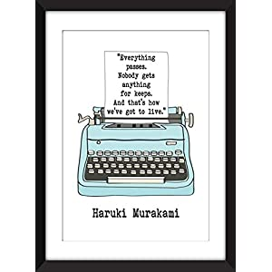 "Haruki Murakami""Everything Passes"" Quote – Unframed Print/Ungerahmter Druck"