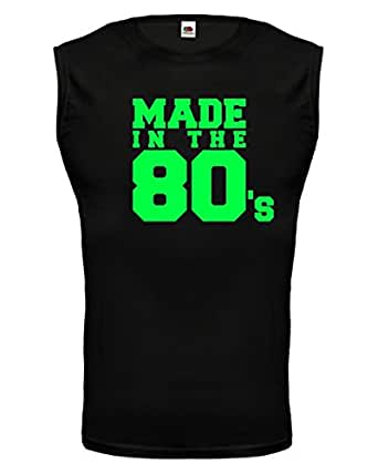 Tank Top Made in the 80s-S-Black-Neongreen
