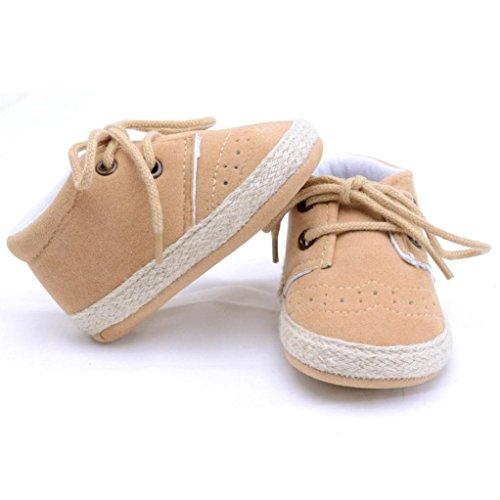 Clode® Neugeborene Säuglings Baby Mädchen Jungen Krippe Schuhe Weiche alleinige Anti Rutsch Turnschuh Schuhe Khaki