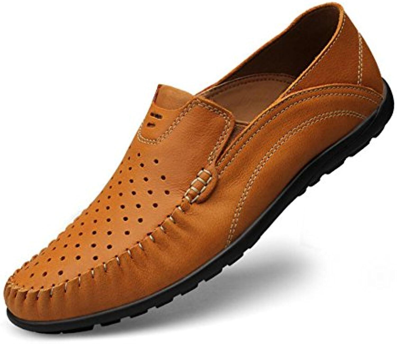 Herrenschuhe Leder Frühling/Sommer/Herbst Neue Herren Leder Peas Schuhe Loafers  SlipOns Große Größe Einfache