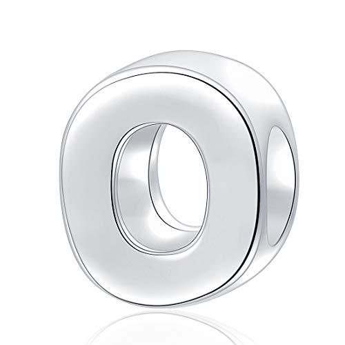 charmsjewelry 925Sterling Charm Bead Buchstabe A-Z Alphabet für Charms Armband, Halskette