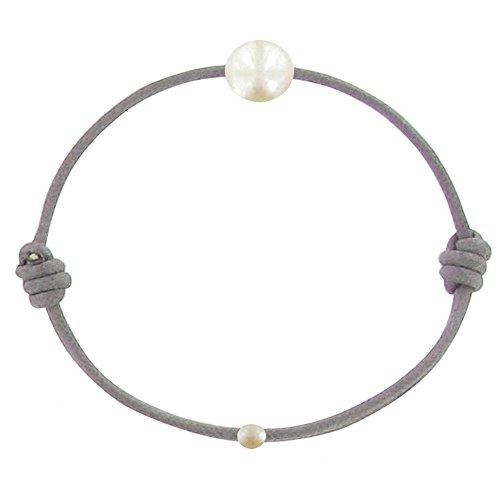 Les Poulettes Bijoux Bracelet La Perle de Culture Blanche...