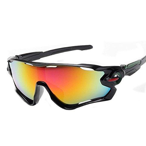 AOLVO Sport-Sonnenbrille, polarisiert, UV-geschützt, Sportbrillen, UV400-Schutz, Sport-Augen-Schutzbrille für Männer und Frauen beim Laufen, Skifahren, Angeln, Golfen F