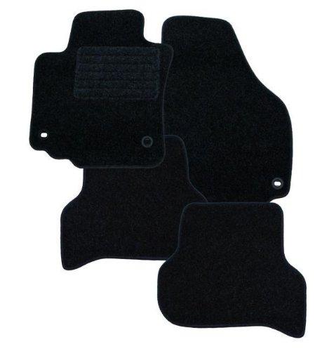 RAU AMAKS0386 - Tappetini sagomati per VW Fox anno di fabbricazione 04/2005 con ferma tappetini (bottone automatico) per guidatore e passeggero - Vw Fox
