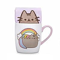 Thumbs Up Pusheen Unicorn Sock in a Mug, Ceramic, White, 12 x 9.5 x 8.5 cm
