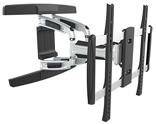RICOO Alu Wandhalterung TV Schwenkbar Neigbar S3144 Universal LCD Wandhalter Ausziehbar Doppelarm Fernseher Halterung für Curved 4K OLED Flachbildfernseher 102-165 cm / 40