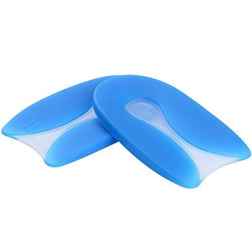 | Unsichtbar Silikon Gel Massage Fersenpolster Einlegesohlen zur Schmerzlinderung, Frauen & Männer (M EU35-39, Länge: 10CM) (Größe 10 Heels Für Männer)